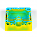 Silicone Tap Ashtray Blue/Yellow