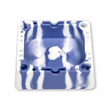 Silicone Tap Ashtray Blue/White