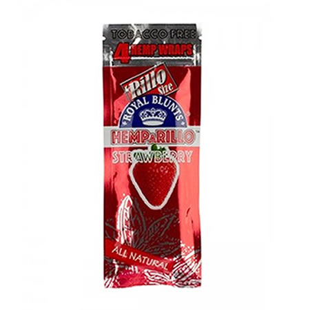 Hemparillo Hemp Wraps Strawberry 4pk