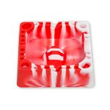 Silicone Tap Ashtray Red/White